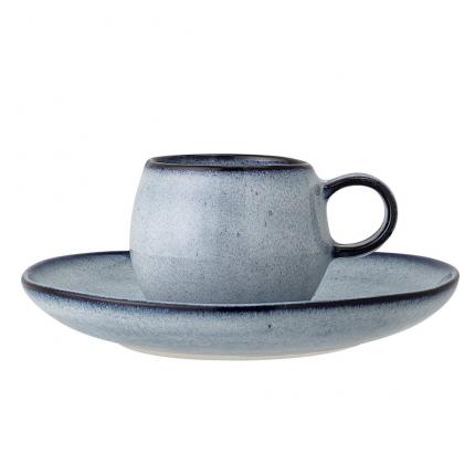 Sandrine - set 4 tazzine da caffè blu