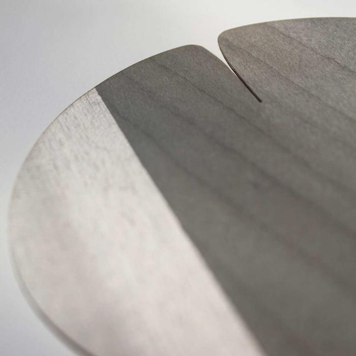 Sottobicchiere grigio in legno