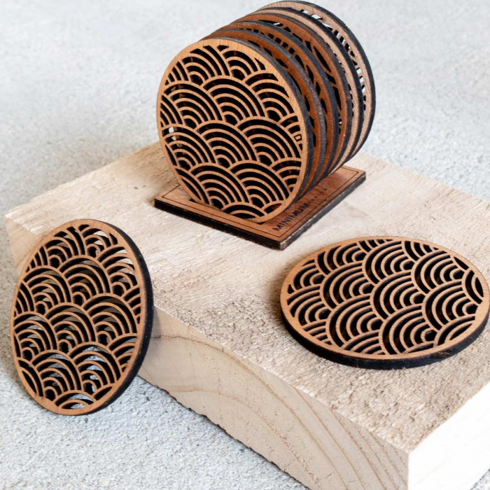 Fuji - sottobicchieri in legno di design