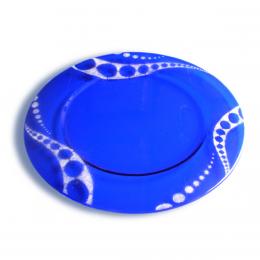 Sottopiatto blu - serie Flux