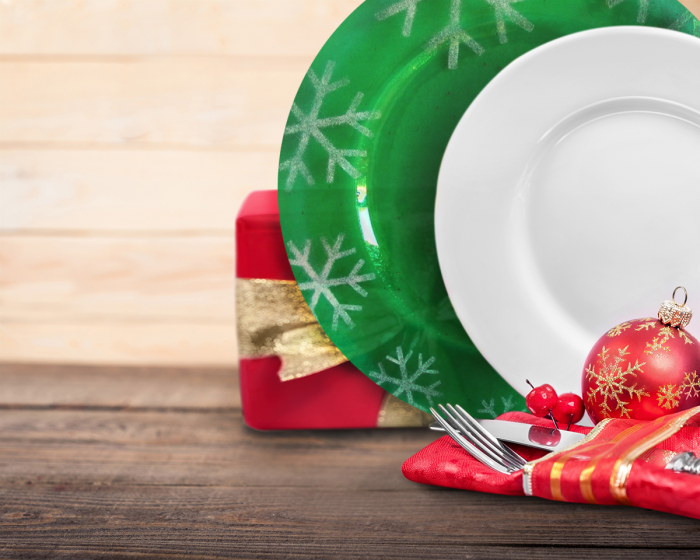 Piatto natalizio verde