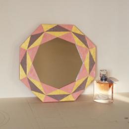 Specchi in legno | Geometria rosa
