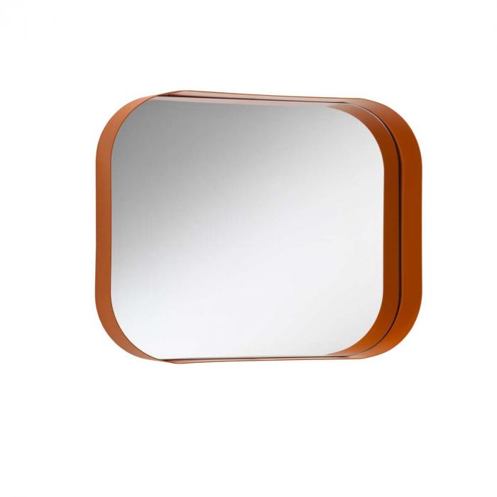 Diletta specchiera in metallo con mensola