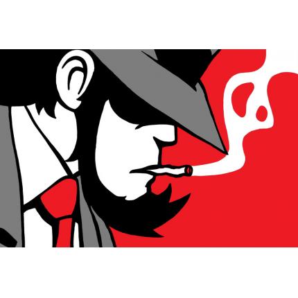 Stampa quadro su tela di Lupin - La sigaretta di Jigen