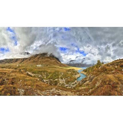 Cielo nuvoloso sul Mont Cenis