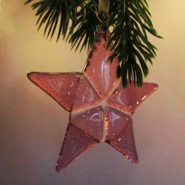 Decorazione natalizia a forma di stella rosa ciclamino