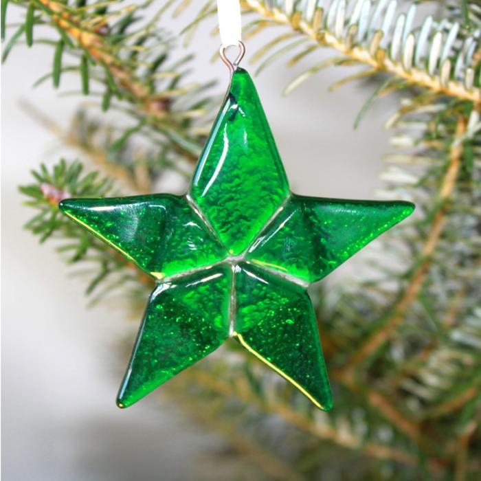 Decorazione in vetro di Murano - stella verde