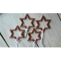 Set di 4 stelle per albero di Natale