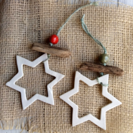 Coppia di stelle per albero di Natale