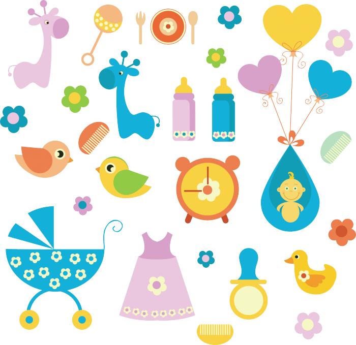 Stickers per bambini nascita livingdeco 39 - Stickers cameretta bambino ...