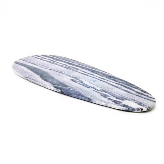 Max large - tagliere ovale in marmo grigio