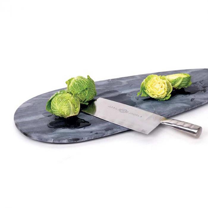 Max medium - tagliere ovale in marmo grigio