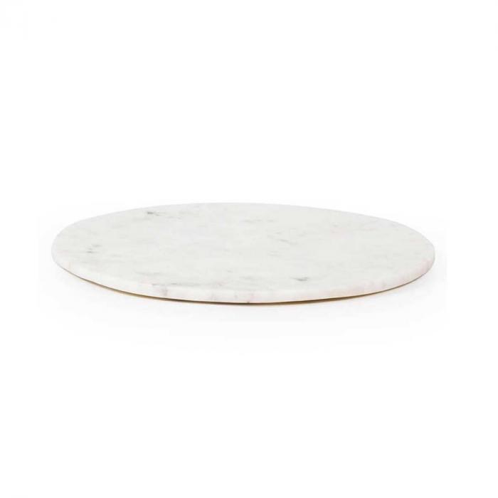 Max large - tagliere tondo in marmo bianco