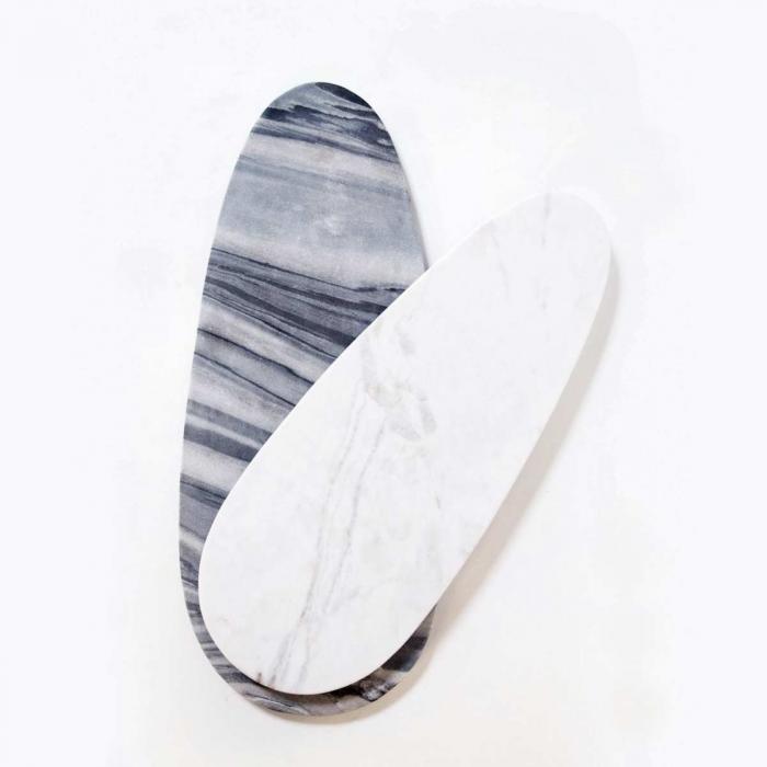 Max medium - tagliere ovale in marmo bianco