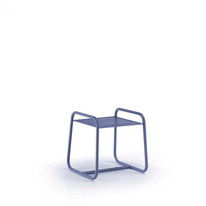 Lolita - tavolino da esterno piccolo in metallo blu