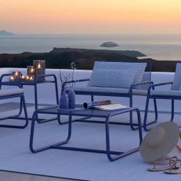 Lolita - tavolino da esterno in metallo blu