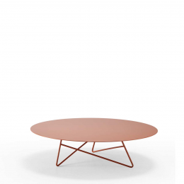 Ermione - tavolino in metallo 90 cm