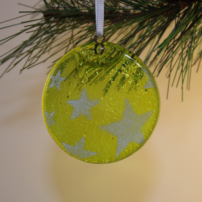 Tondo verde chiaro con stelle
