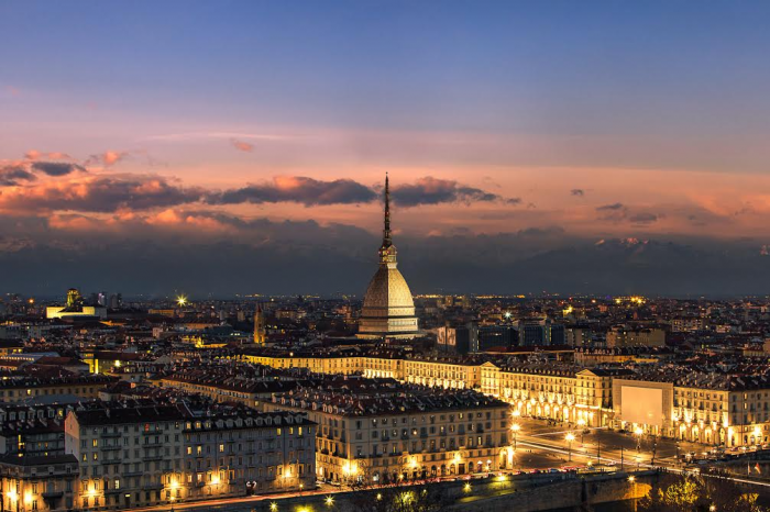 Fotomurale paesaggi e citt tramonto su torino livingdeco 39 for Carta parati torino