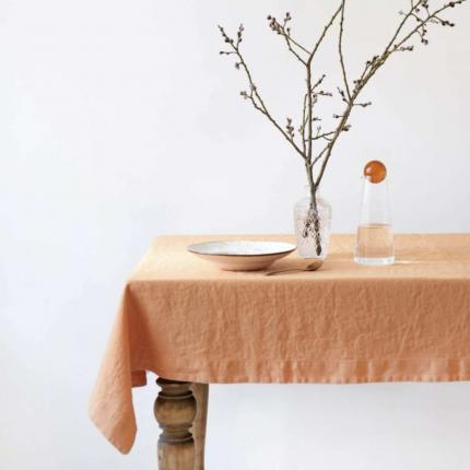 Tangerine - tovaglia in lino arancio