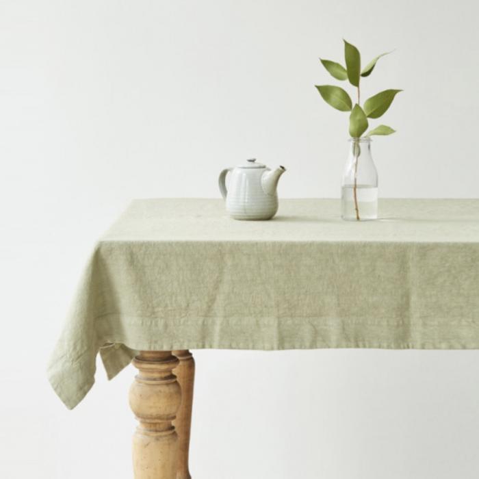 Sage - tovaglia in lino verde salvia