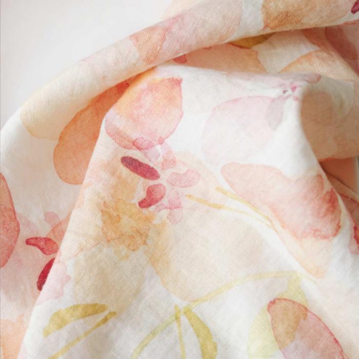 Flora - tovaglia in lino stampa floreale