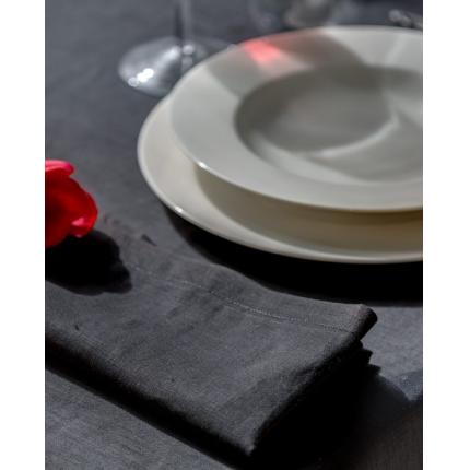 Tovaglia in lino nera