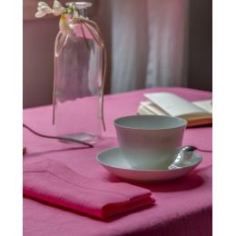 Tovaglia in lino rosa
