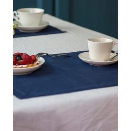 Set due tovagliette in lino blu
