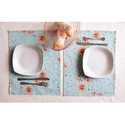 Set di tovagliette da colazione azzurre