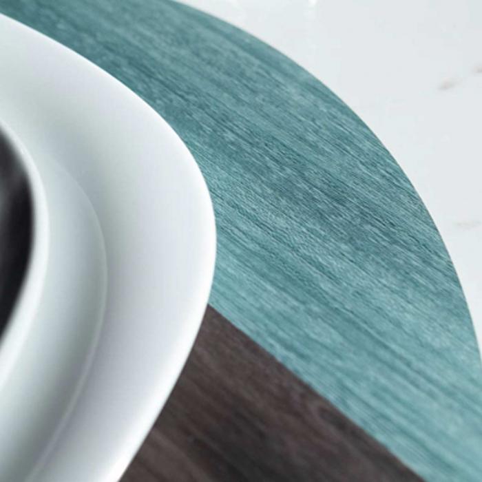 Nelumbo - tovaglietta grigia e azzurra