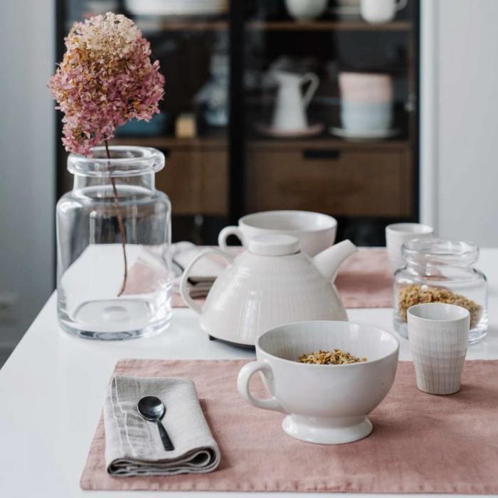 Cafe cream - set 6 tovagliette in lino