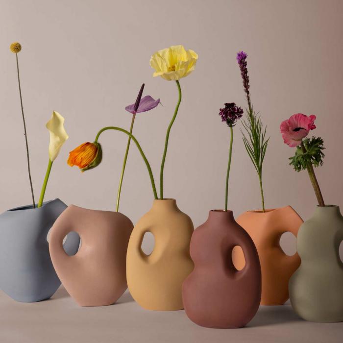 Aura - Vaso in ceramica verde salvia