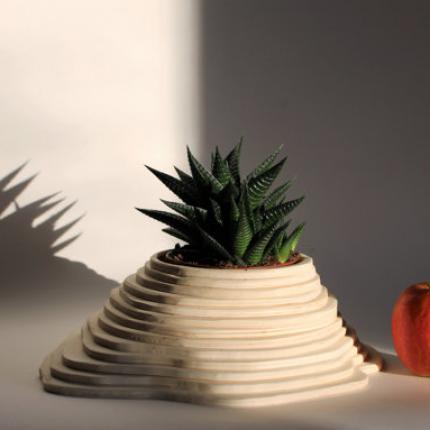 Vaso in legno medio