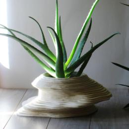 Vaso in legno grande