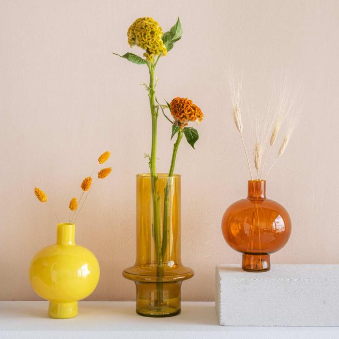 Round - Vaso tondo giallo