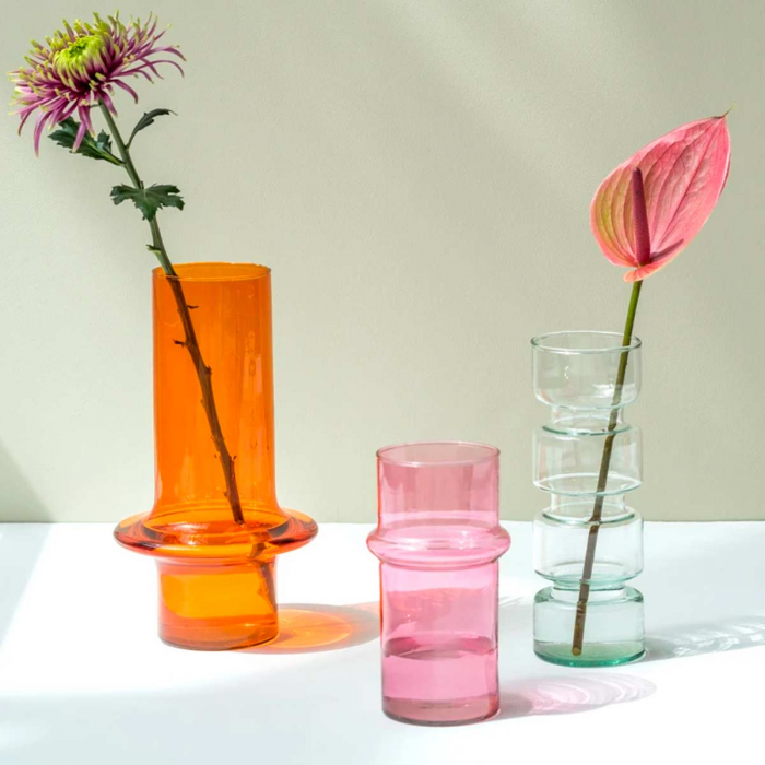 Paprika - Vaso in vetro rosso arancio