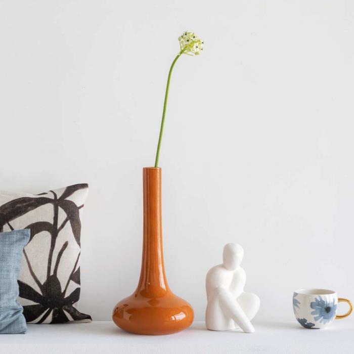 Enlightment - Vaso in terracotta lucida