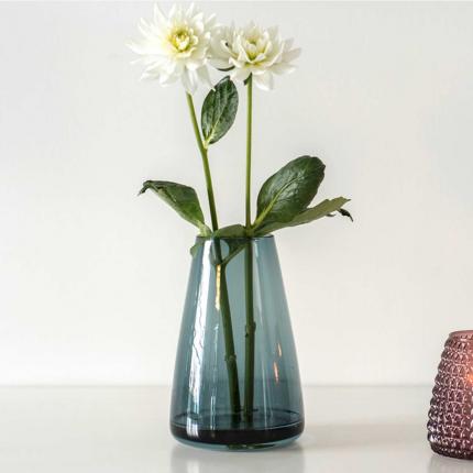 DIM Smooth large - vaso in vetro soffiato azzurro