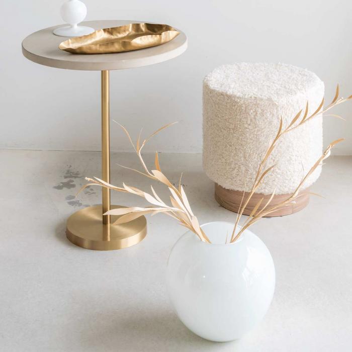 Enlightment - Vaso tondo bianco