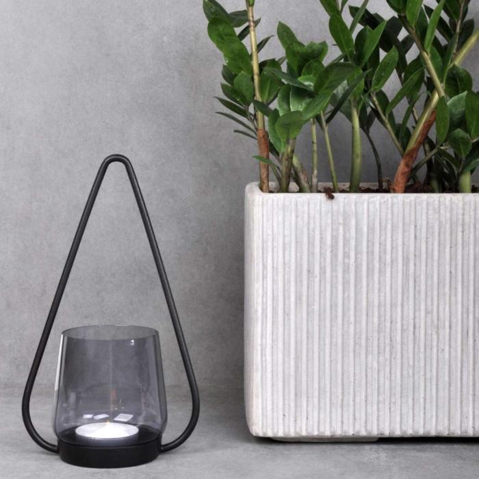Mon vaso quadrato in cemento - large