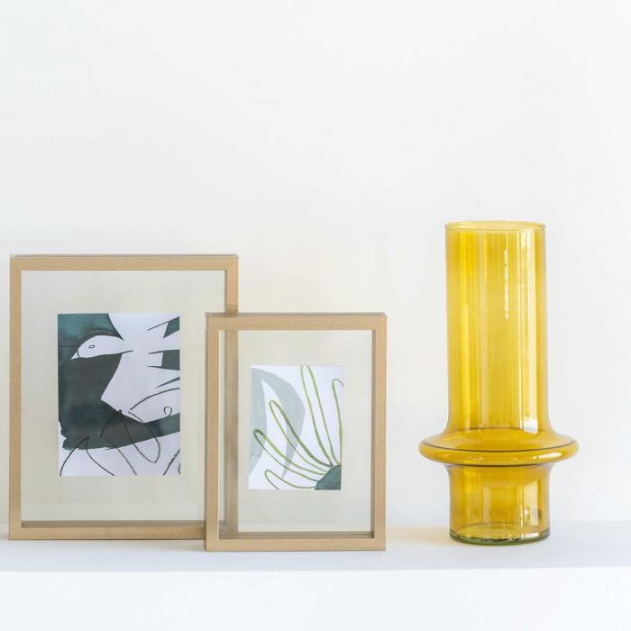 Yolk - Vaso in vetro giallo