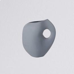Aura - Vaso in ceramica azzurro polvere