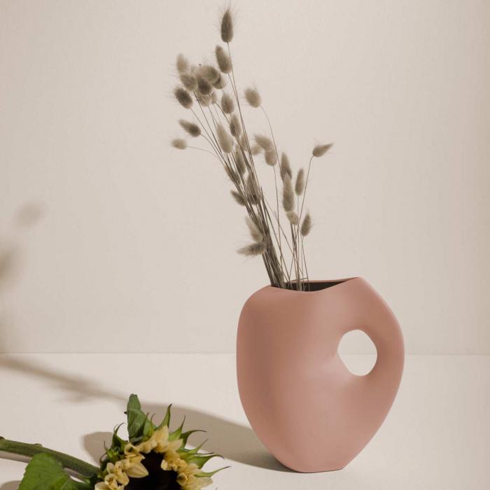 Aura - Vaso in ceramica rosa cipria