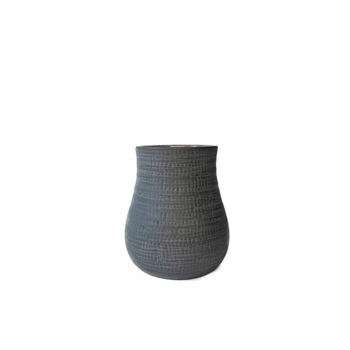 Paz small - vaso in terracotta blu