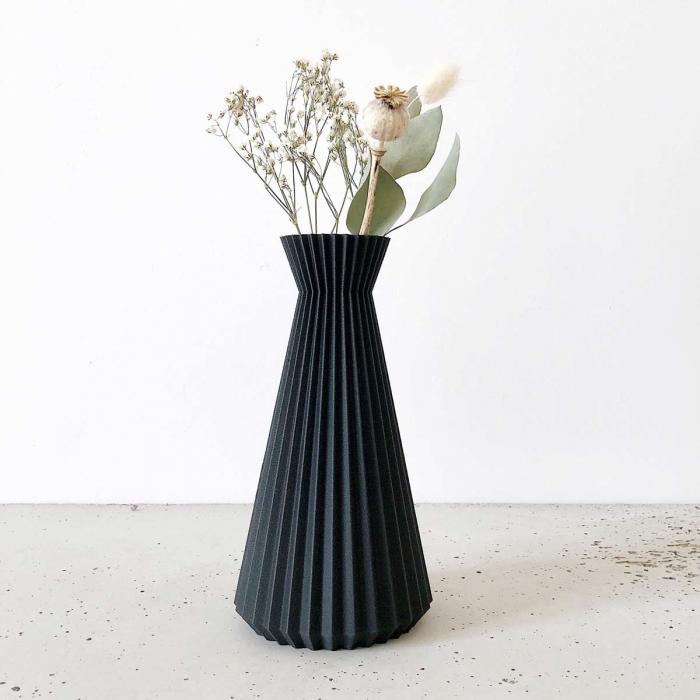 Ishi - Vaso nero origami
