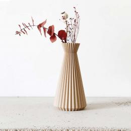 Ishi - Vaso decorativo color legno naturale