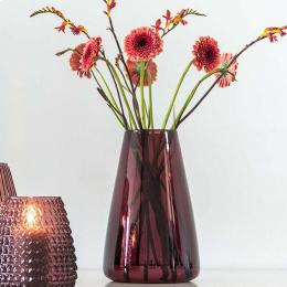 DIM Smooth large - vaso in vetro soffiato rosso