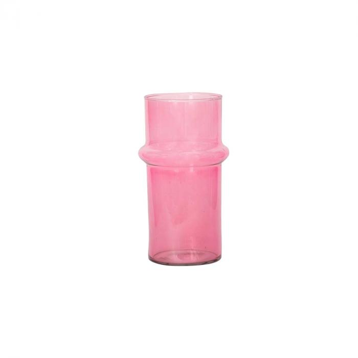 Pink - Vaso in vetro rosa