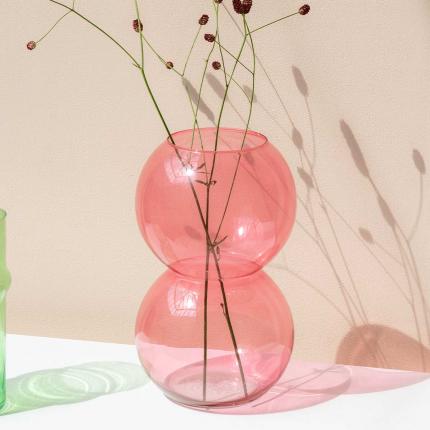 Bulb - Vaso in vetro rosa